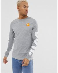 ede8f4c8 Nike Printed Long Sleeve T-shirt In White 929374-100 in White for ...