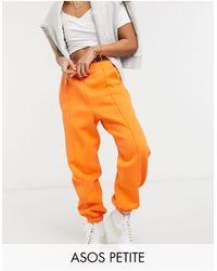 ASOS Asos Design Petite Oversized jogger With Pintuck - Orange