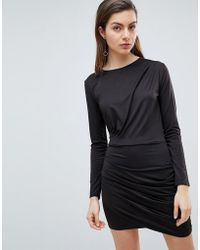 Ivyrevel - Long Sleeved Jersey Dress With Ruched Detail - Lyst