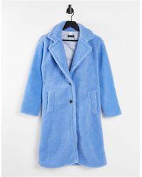 I Saw It First Giacca teddy taglio lungo - Blu
