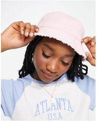 ASOS Canvas Bucket Hat - Pink