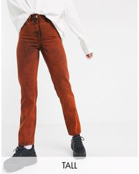 Collusion X005 Tall Straight Jeans - Red