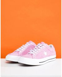 Converse - One Star Ox Plimsolls In Pink 159492c - Lyst