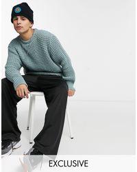 Collusion Fisherman Knit Jumper - Green