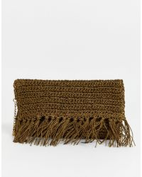 Oasis Соломенный Клатч -коричневый