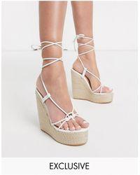 SIMMI Shoes Alpargatas en blanco Monique colour drench exclusivas - Multicolor