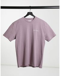 TOPMAN T-shirt With Print - Purple