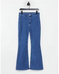 TOPSHOP Three Stretch Flare Jean - Blue