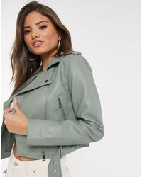 Stradivarius Faux Leather Jacket - Multicolor