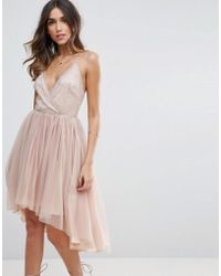 ASOS | Ballerina Mesh Sparkle Tulle Midi Dress | Lyst