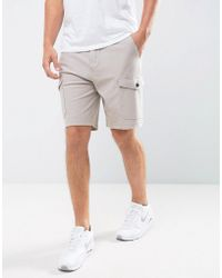 Abercrombie & Fitch Cargo Shorts Twill Knit In Beige - Natural