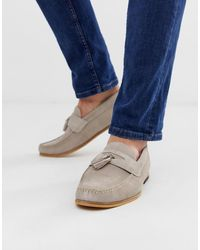 River Island Loafer With Tassel - Gray