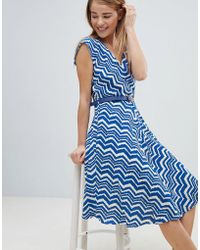 Louche - Zig Zag Print Belted Skater Dress - Lyst