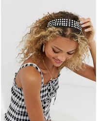 ASOS Headband With Pearl Drench Embellishment - Black