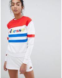 Ellesse - Heritage Oversized Sweatshirt With Rainbow Logo - Lyst