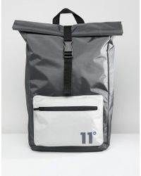 11 Degrees | Rolltop Backpack In Grey | Lyst