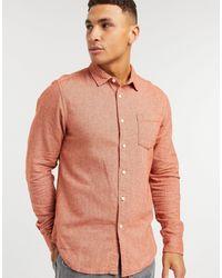 ASOS Оранжевая Фланелевая Рубашка Классического Кроя - Многоцветный