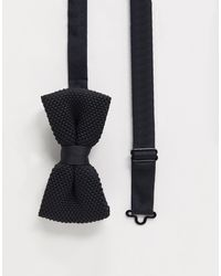 Twisted Tailor Knitted Bow Tie - Black