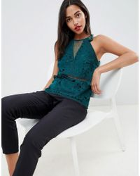 Coast - Royale Green Lace Top - Lyst