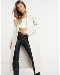 ASOS Belted Leather Look Trench - Multicolour