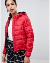 Vero Moda - Cropped Hooded Padded Jacket - Lyst