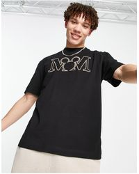 River Island T-shirt With Micky Print - Black