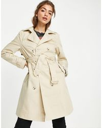 Miss Selfridge Trench Coat - Natural