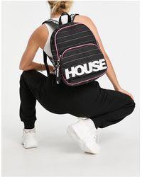 House of Holland Sac à dos avec logo et coutures arc-en-ciel - Noir