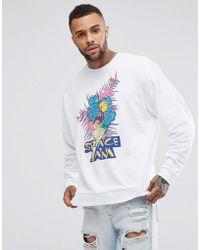 ASOS Sweatshirt With Space Jam Print - White