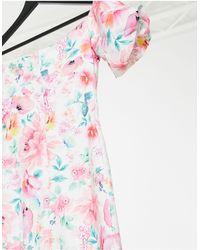 Lipsy Bardot Midi Dress - Multicolor