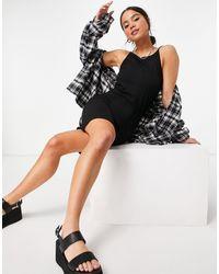 Noisy May Strappy Bodycon Mini Dress - Black