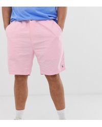 Polo Ralph Lauren Big & Tall - Prepster - Chino-Shorts in Rosa mit Polospieler-Logo - Pink