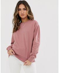 ASOS Sweatshirt aus Bio-Baumwolle in Rehbraun - Pink