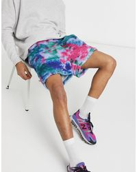 ASOS Co-ord Oversized Teddy Borg Shorts - Blue