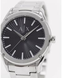 Armani Exchange Серебристые Часы С Черным Циферблатом Fitz Ax2800-серебряный - Металлик