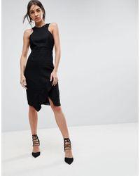 Adelyn Rae Bianca Lace Sheath Dress - Black