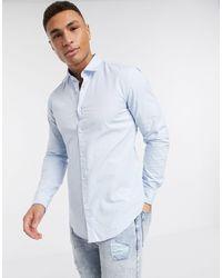 BOSS by Hugo Boss Business Rikki - Smal Overhemd Met Lange Mouwen - Blauw