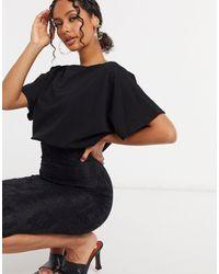 AX Paris - Черное Платье-футляр С Рукавами Клеш -черный - Lyst