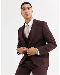 Rudie Plain Skinny Fit Suit Jacket - Red