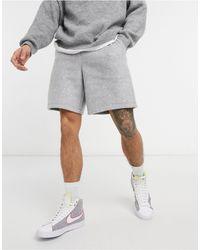 ASOS Co-ord Oversized Polar Fleece Shorts - Grey