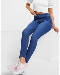 Urban Bliss Jeans skinny a vita alta lavaggio scuro - Blu