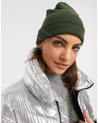 ASOS Bonnet à large revers en polyester recyclé - Kaki - Vert