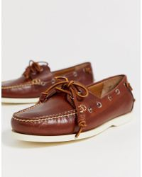 d847082a Merton Leather Boat Shoe In Tan - Brown
