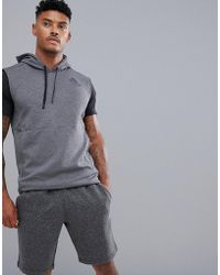 gris Training en sin mangas Lyst Adidas capucha Cd7844 con sudadera 0dqcwp4