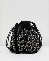 Park Lane - Embroidered Shoulder Bag - Lyst
