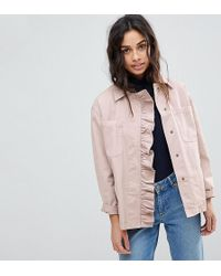 ASOS - Shacket With Frill Detail - Lyst