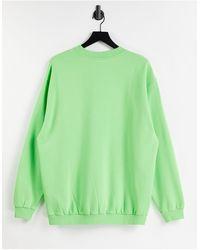 Reclaimed (vintage) - Зеленый Меланжевый Свитшот В Стиле Унисекс С Логотипом Inspired-зеленый Цвет - Lyst