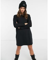 Miss Selfridge Long Sleeve T-shirt Dress - Black