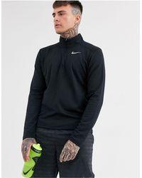 Nike – Pacer – es Sweatshirt mit kurzem Reißverschluss - Schwarz