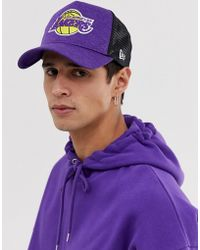 KTZ Shadow Tech LA Lakers - Cappellino trucker viola